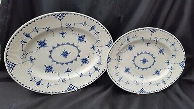 Furnivals Masons BLUE DENMARK Platter Meat Dish, Sandwich Plate, BBQ X 2 Sizes • 45£