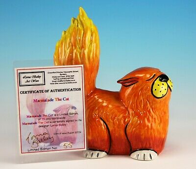 Lorna Bailey THE ORIGINAL MARMALADE KING OF CATS LIMITED EDITION 55/75 AUG 2002 • 295£