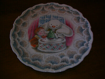 Royal Doulton The Snowman Plate 2nd In Series 'Snowman Christmas Cake' 1985 • 16.99£
