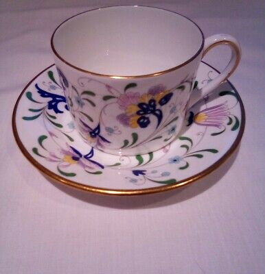 Coalport Pageant Drum Style Tea Cup And Saucer - Excellent Condition • 6.99£