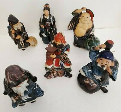 Oriental Chinese Figurines Ceramic And Glaze #H1 • 21.99£