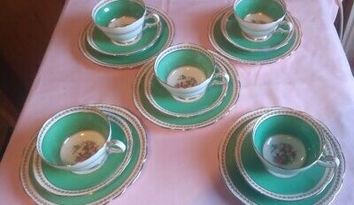 Vintage Paragon China - Set Of Five Trios - 1930's • 40£
