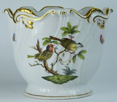 Herend Planter In Porcelain Hand-painted Rothschild Bird And Signed Herend • 23.66£
