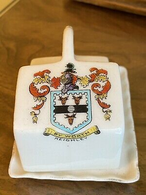 Keighley Vintage Crest Ware Butter Dish  3 X 2.5 Inches • 4.50£