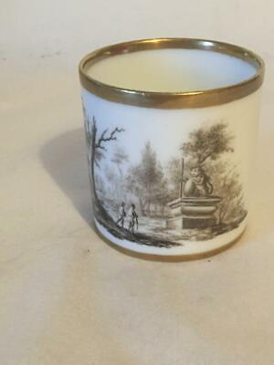 Early 19c Bat Printed Porcelain Coffee Can - Spode ? • 14.99£