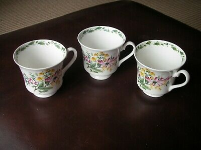 Queen's Rhs  The Garden  By Lillian Snelling  English Fine Bone China Cups X 3 • 4.99£