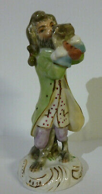 Vintage Meissen Style Porcelain Handpainted Monkey Playing A Flute Band Figurine • 9.99£