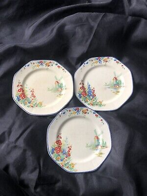 3 X Midwinter Burslem Porcelain Plates • 5£