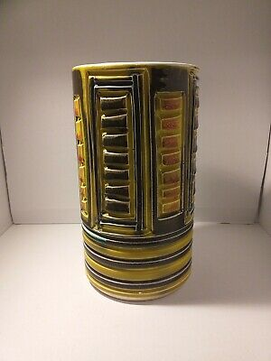 Midcentury Abstract Poole Vase 23cms Tall • 20£