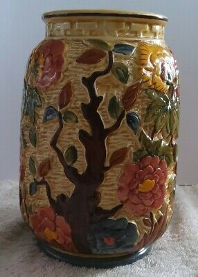 Indian Tree Handpainted Vase H.J.Wood Staffordshire England Excellent Condition  • 9£