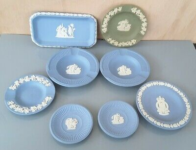 Job Lot Of 8 Assorted Wedgewood Jasper Pin Dishes • 7.95£