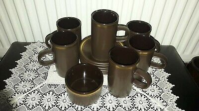 Purbeck Pottery Brown And Gold Coffee Set • 20£