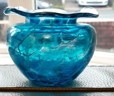 Small Blue Glass Bowl • 5.50£