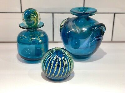 Mdina Art Glass Shouldered Vase Decanter And Paperweight  • 7.50£