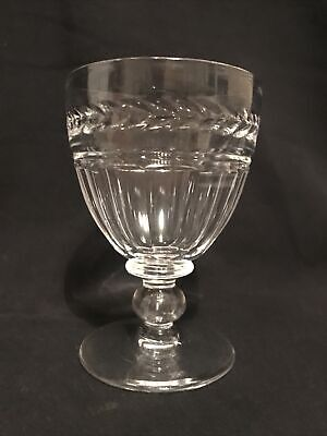 "Stuart Crystal Arundel Cut Water Goblet, Signed. 5"" Tall • 29.95£"