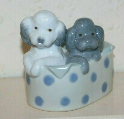 Puppies In A Basket By Lladro • 14.99£