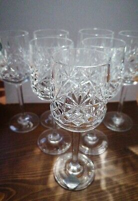 Edinburgh Crystal  The Continental Collection  Long Stemmed Glasses X7  • 14£