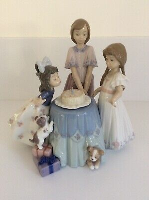 """Large Rare Lladro Figurine """"Making A Wish"""" 5190 Retired - Mint Condition • 410£"""
