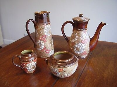 Exceptional Set Of Antique Royal Doulton Slaters Patent Coffee Service. 4 Items • 55£
