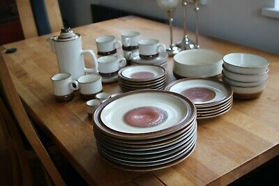 Vintage Denby Potters Wheel Stoneware Dinner / Coffee Set In Excellent Condition • 45£