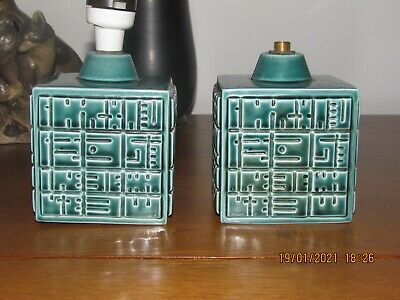 2 Poole Pottery Helios Lamp Bases Blue • 23.69£