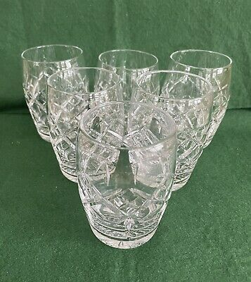 Set Of 6 Crystal 8 Oz Or 250 Ml Whisky Tumblers • 10£