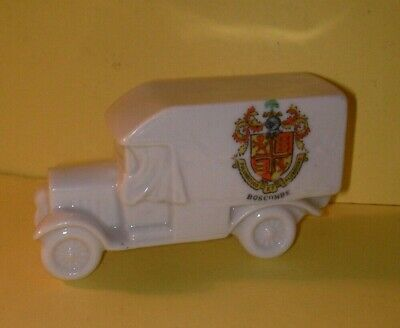 Grafton Crested China WW1 Red Cross Van With Curtains  Boscombe Crest • 14.99£
