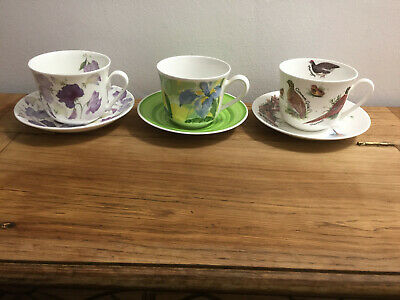 Three Lovely Large Bone China Cups • 12.99£