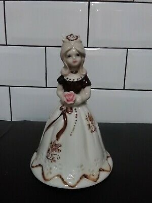 "Vintage Porcelain Lady Figurine Bell Approx 6"" • 3.50£"