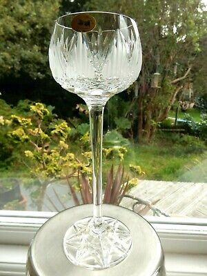 Vintage Irish Tyrone Crystal Tall 21cm Wine Glass Shannon Suite Signed & Label • 32.50£