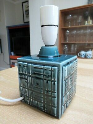 1960s Poole Pottery Helios Blue/Green Table Lamp By Robert Jefferson • 82£