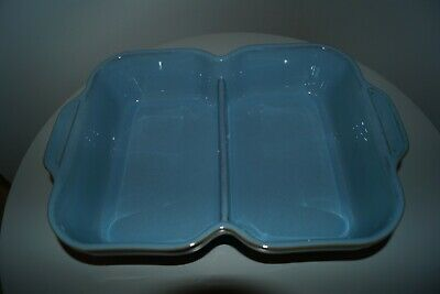 Denby Colonial Blue - Double Divided Serving/Vegetable Dish • 10£