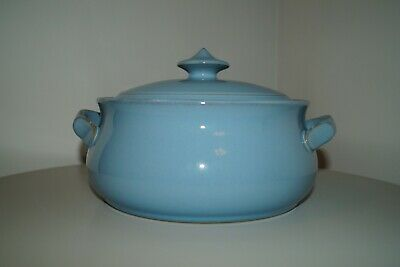 Denby Colonial Blue Casserole Dish With Lid • 10£