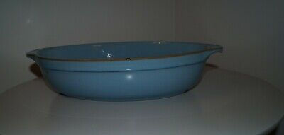 Denby Colonial Blue Large Oval Serving/Oven Dish • 10£