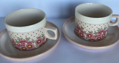 Hornsea Pottery ~ Passion ~ 2 X Cups And Saucers • 40£