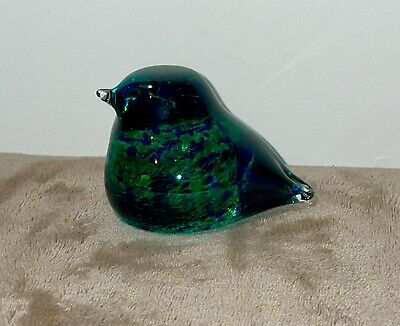 Small Dumpy Glass Bird Blue Green Wedgwood • 7.50£