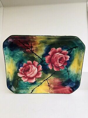 Wemyss Tray. Stunning Colours. Early 1900's . Antique. 10x8 Inches. • 70£