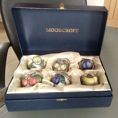 Moorcroft Eggcups Set Very Rare Boxed Set.english Fruits And Their Flowers.2003. • 199.99£