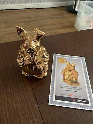 Nat West Pigs Gold Annabel With Certificate • 100£
