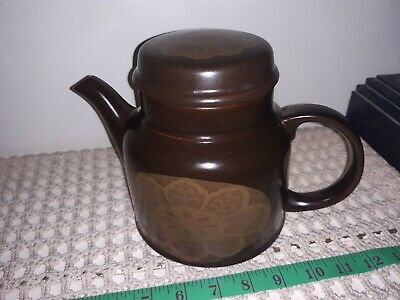 Royal Doulton Marbella  Brown Teapot & Lid Hand Painted/glazed - EXC Cond • 30£