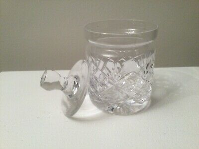Vintage Cut Glass Crystal Jam Pot • 6.50£