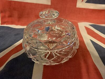 Cut Glass Lidded Dressing Table Pot. • 4.99£