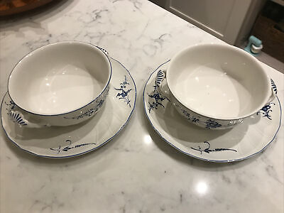 Villeroy Boch Lixembourg 2 Soup Bowls With Plate • 12.50£