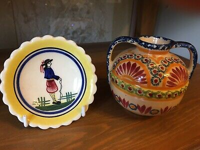 Two Quimper Items Of Various Vintage. • 15£