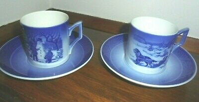 1985  & 1986 Royal Copenhagen Cup & Saucer PERFECT OFFERS WELCOME • 22.99£