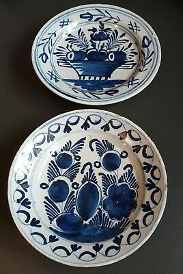 2 Vintage Blue And White Small Plates • 8.99£