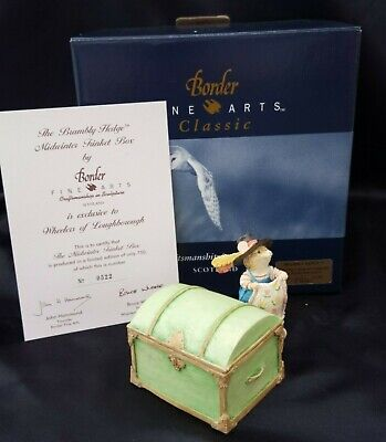 Brambly Hedge Border Fine Arts The Merry Midwinter Trinket Box Signed 522 Of 750 • 84.99£