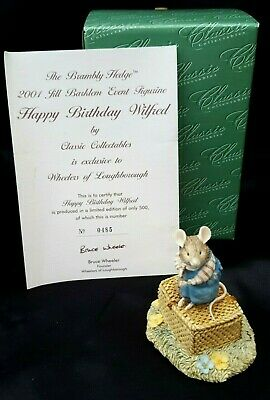 BRAMBLY HEDGE BORDER FINE ARTS HAPPY BIRTHDAY WILFRED Limited Edition  BOXED • 84.99£