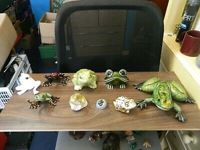 A Collection Of 9 Porcelain FROGS • 17.50£