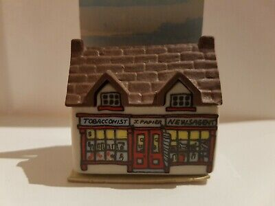 Wade Whimsey On Why Village Tobacconist Shop No 4. On Display Card (Whimsies) • 4.50£
